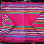 Portaritratto in stoffa con colori tipici